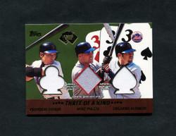 2002 METS TOPPS FIVE CARD STUD 3 OF A KIND GU PIAZZA/SHINJO/ALFONZO *8773