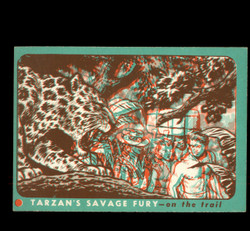 1953 TOPPS TARZAN #19 SAVAGE FURY 3D ON THE TRAIL EXMT/NM *8836