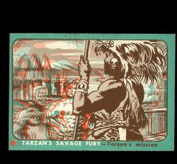 1953 TOPPS TARZAN #42 SAVAGE FURY 3D TARZANS MISSION EXMT/NM *8973