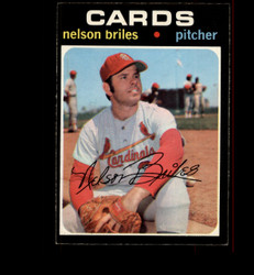 1971 NELSON BRILES OPC #257 O PEE CHEE CARDINALS EXMT *4803