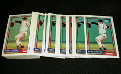 1992 ROGER CLEMENS TOPPS #150 BOSTON RED SOX *MINT LOT OF 100
