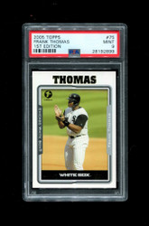 2005 FRANK THOMAS TOPPS #75 1ST EDITION WHITE SOX PSA 9