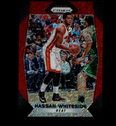 2017 HASSAN WHITESIDE PANINI PRIZM #55 RED SHIMMER #/8 HEAT *8762