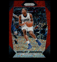 2017 WESLEY JOHNSON PANINI PRIZM #213 RED SHIMMER #/8 CLIPPERS *8781