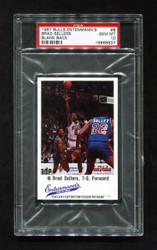 1987 BRAD SELLERS BULLS ENTENMANNS #6 BLANK BACK CHICAGO PSA 10