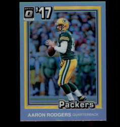 2017 AARON RODGERS OPTIC #10 TRIBUTE 1981 HOLO PACKERS *7045