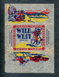 1937 WILD WEST GUM INC R172 WRAPPER VG