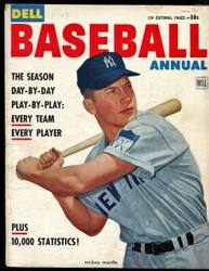 1953 DELL BASEBALL ANNUAL 1ST ISSUE MICKEY MANTLE MAGAZINE