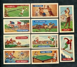 1964 LAMBERTS TEA SPORTS AND GAMES COMPLETE 25 CARD SET