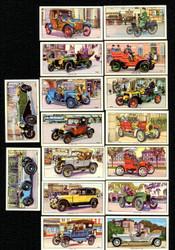 1962 KELLOGG COMPANY VETERAN MOTOR CARS COMPLETE SET 16/16