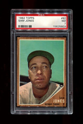 1962 SAM JONES TOPPS #92 DETROIT TIGERS PSA 7