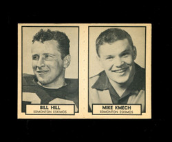 1962 BILL HILL #47 MIKE KMECH #46 TOPPS CFL PANEL EXMT *8095
