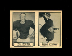 1962 BILL MITCHELL #140 DANNY NYKOLUK #141 TOPPS CFL PANEL EXMT *8066