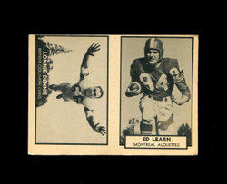 1962 LONNIE DENNIS #8 ED LEARN #89 TOPPS CFL PANEL EX *4250