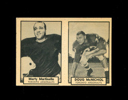 1962 MARTY MARTINELLO #138 DOUG MCNICHOL #139 TOPPS CFL PANEL EX-EXMT *5070