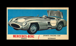 1961 TOPPS SPORTS CARS #65 MERCEDES BENZ EX/EXMT