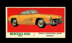 1961 TOPPS SPORTS CARS #63 MERCEDES BENZ NM