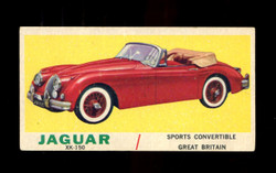 1961 TOPPS SPORTS CARS #60 JAGUAR CHECKLIST VG
