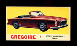 1961 TOPPS SPORTS CARS #58 GREGOIRE NM/MT