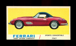 1961 TOPPS SPORTS CARS #55 FERRARE 250GT EXMT