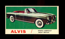 1961 TOPPS SPORTS CARS #51 ALVIS EXMT