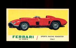 1961 TOPPS SPORTS CARS #50 FERRARI 4.9 SPORTS RACING NM