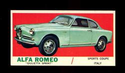 1961 TOPPS SPORTS CARS #47 ALFA ROMEO GIULIETTA SPRINT EXMT/NM