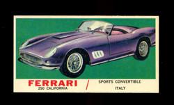 1961 TOPPS SPORTS CARS #46 FERRARI 250 CALIFORNIA EXMT/NM