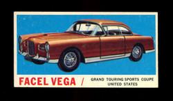1961 TOPPS SPORTS CARS #44 FACEL VEGA VG/EX