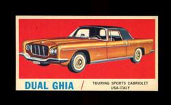 1961 TOPPS SPORTS CARS #42 DUAL GHIA NM