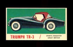 1961 TOPPS SPORTS CARS #41 TRIUMPH TR-3 NM