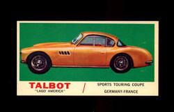 1961 TOPPS SPORTS CARS #39 TALBOT LAGO AMERICA NM