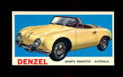 1961 TOPPS SPORTS CARS #38 DENZEL EXMT