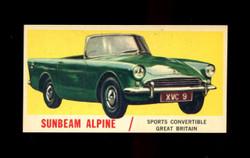 1961 TOPPS SPORTS CARS #37 SUNBEAM ALPINE NM-ST