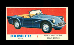 1961 TOPPS SPORTS CARS #36 DAIMLER SP 250 EXMT/NM