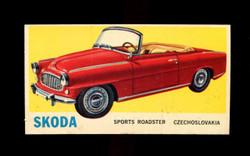 1961 TOPPS SPORTS CARS #33 SKODA NM/MT