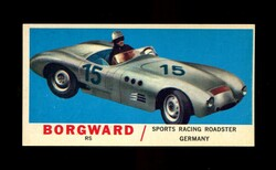 1961 TOPPS SPORTS CARS #28 BORGWARS RS NM
