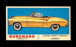 1961 TOPPS SPORTS CARS #26 BORGWARD ISABELLA TS EXMT