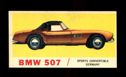 1961 TOPPS SPORTS CARS #24 BMW 507 EXMT