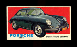 1961 TOPPS SPORTS CARS #23 PORSCHE 356 B EX
