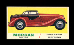 1961 TOPPS SPORTS CARS #17 MORGAN PLUS FOUR EX