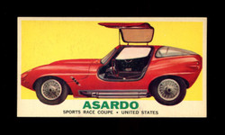 1961 TOPPS SPORTS CARS #12 ASARDO NM