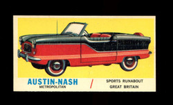 1961 TOPPS SPORTS CARS #11 AUSTIN NASH METROPOLITAN NM