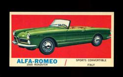 1961 TOPPS SPORTS CARS #10 ALFA ROMEO 2000 ROADSTER NM-ST