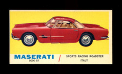 1961 TOPPS SPORTS CARS #7 MASERATI 5000 GT NM