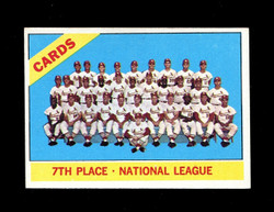 1966 ST LOUIS CARDINALS TOPPS #379 TEAM CARD EXMT-NM *7355