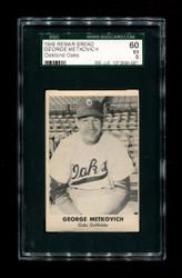 1949 GEORGE METKOVICH REMAR BREAD OAKLAND OAKS SGC 60 EX 5