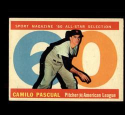 1960 CAMILO PASCUAL TOPPS #569 ALL STAR EX *8444