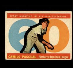 1960 CAMILO PASCUAL TOPPS #569 ALL STAR VG *5028
