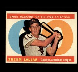 1960 SHERM LOLLAR TOPPS #567 ALL STAR EX *8082